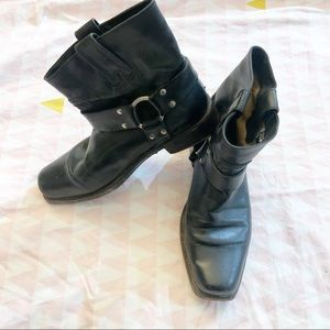 Frye Low Harness Leather Boots